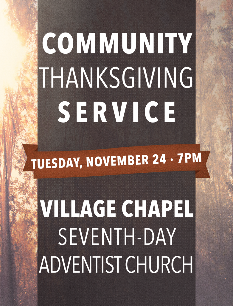 Community Thanksgiving Service Poster